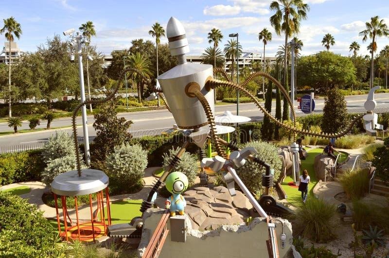 Universal Studio kurortu Hollywood przejażdżka W Golfowym miniaturowym golfie zdjęcie royalty free