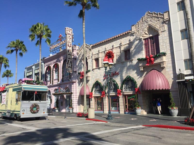 Universal Studio podczas Bożenarodzeniowego sezonu wakacyjnego fotografia stock