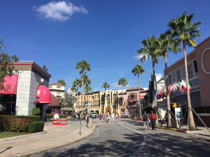 Universal Studio podczas Bożenarodzeniowego sezonu wakacyjnego zdjęcia royalty free