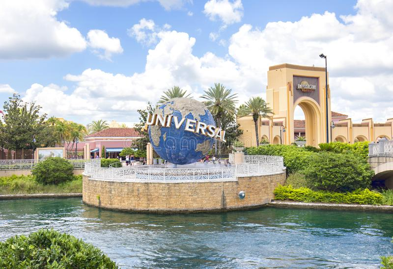 Universal Studios Earth Globe And Entrance royalty free stock photos