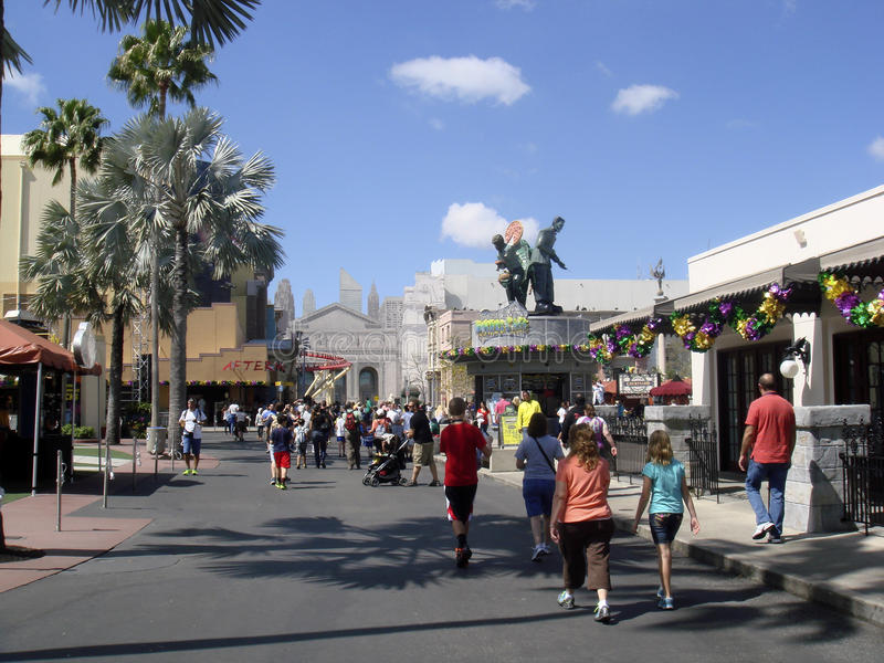 Universal Studios, Florida. Main Avenue. Universal Studios Florida is a theme park located in Orlando, Florida. Opened on June 7, 1990, the park's theme is the stock photography