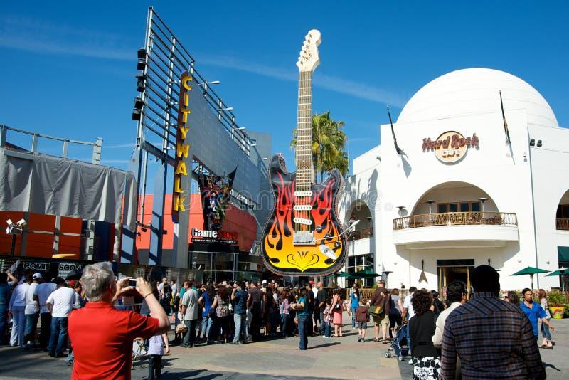 Universal Studios Hollywood Hard Rock Cafe stockfotos