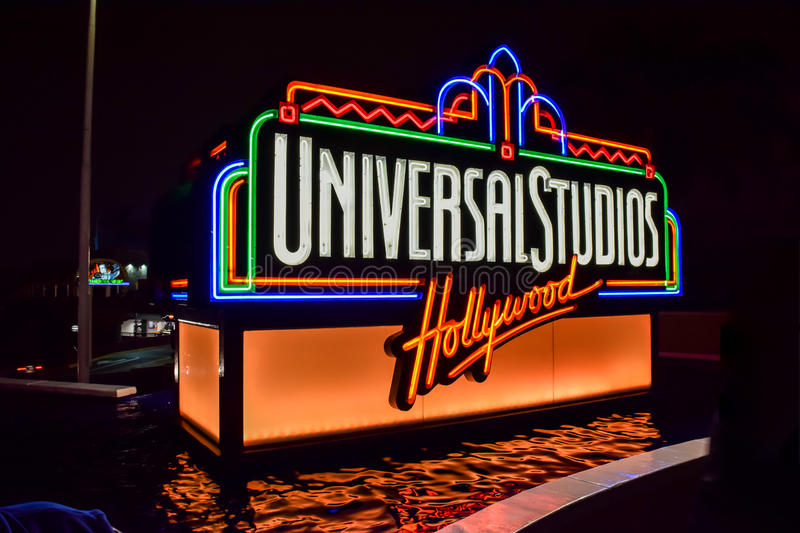 Universal Studios Hollywood sign royalty free stock photo