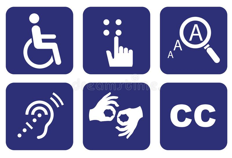 Universal Symbols of Accessibility vector illustration