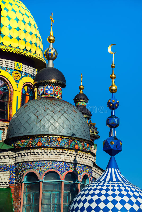 Universal Temple of All Religions in Kazan, Russia stock photography
