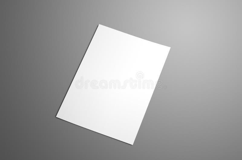 Universal tom A4, bi-veck A5 broschyr med mjukt realistiskt sh royaltyfri foto