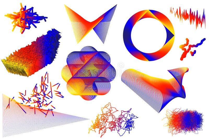 Universal trend vector geometric shapes set vector illustration