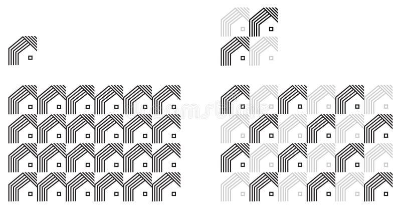 Universal various geometric seamless pattern royalty free illustration