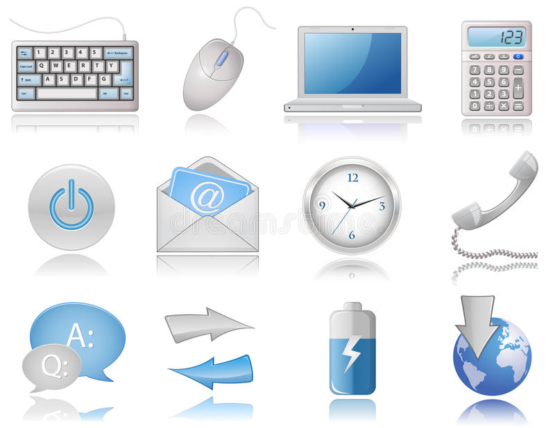 Download Universal Web Icon Set stock vector. Illustration of internet - 13273814