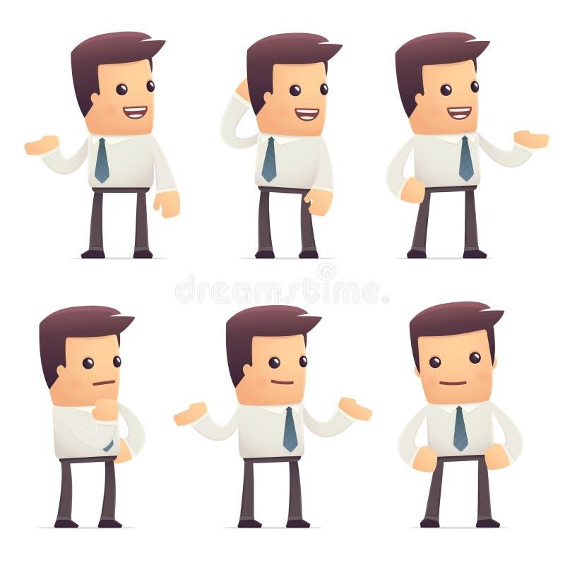 Universalcharaktere in den verschiedenen Haltungen Manager lizenzfreie abbildung