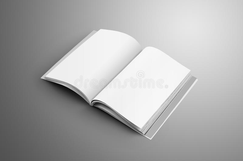 Universalmellanrumet öppnade A4, tidskriften A5 med mjuk realistisk sha royaltyfri illustrationer