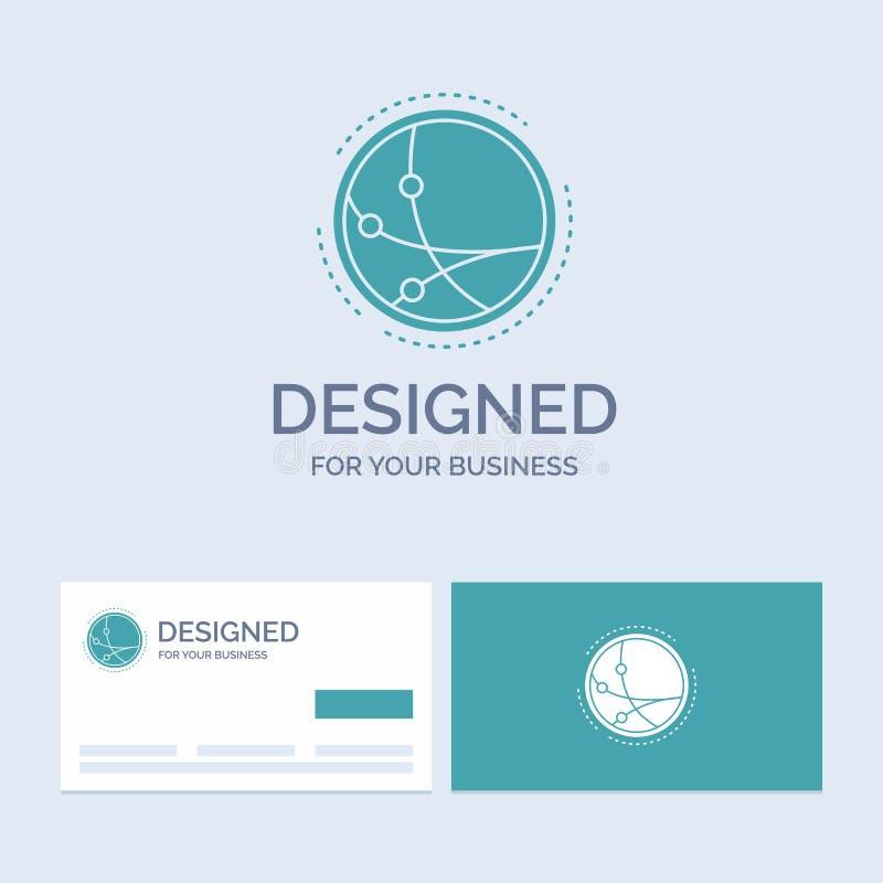 universalmente, comunicazione, collegamento, Internet, affare Logo Glyph Icon Symbol della rete per il vostro affare Affare del t royalty illustrazione gratis