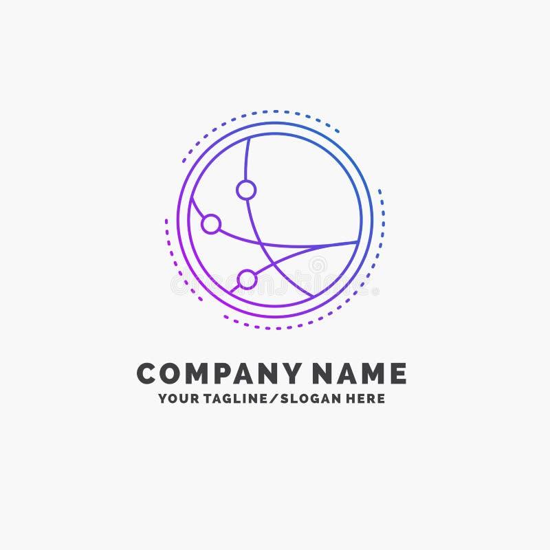 universalmente, comunicazione, collegamento, Internet, affare porpora Logo Template della rete Posto per il Tagline royalty illustrazione gratis