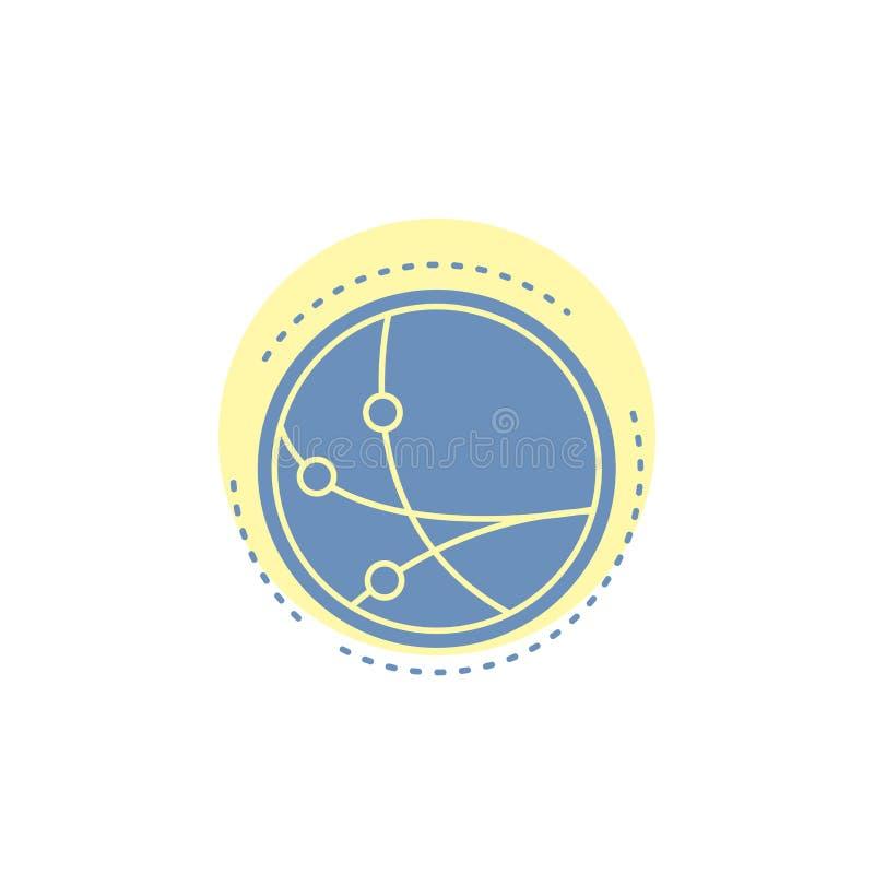 universalmente, comunicazione, collegamento, Internet, icona di glifo della rete illustrazione vettoriale