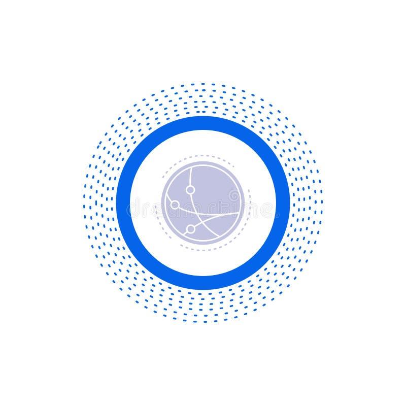 universalmente, comunicazione, collegamento, Internet, icona di glifo della rete Illustrazione isolata vettore royalty illustrazione gratis
