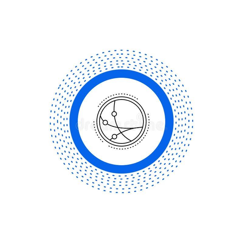 universalmente, comunicazione, collegamento, Internet, linea icona della rete Illustrazione isolata vettore illustrazione di stock