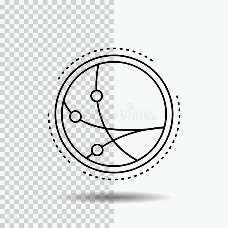 universalmente, comunicazione, collegamento, Internet, linea icona della rete su fondo trasparente Illustrazione nera di vettore  illustrazione vettoriale