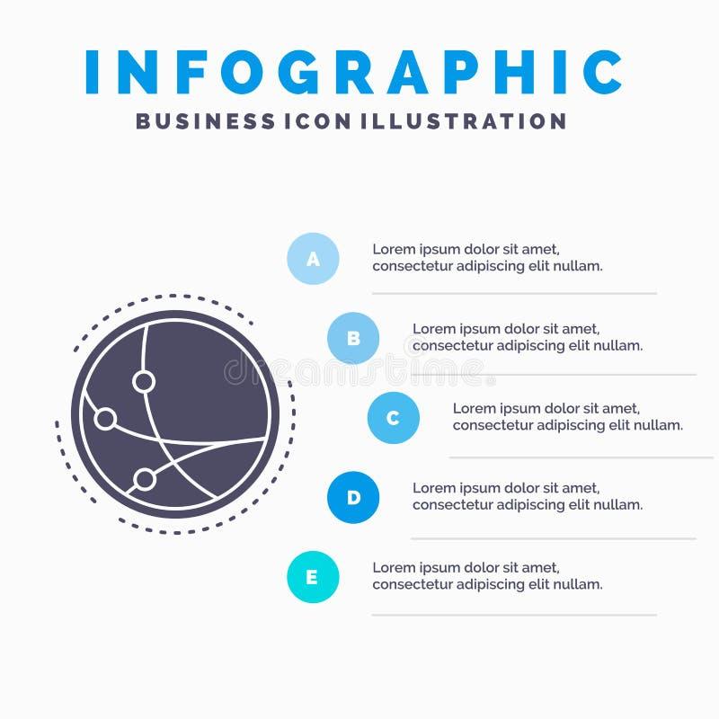 universalmente, comunicazione, collegamento, Internet, modello di Infographics della rete per il sito Web e presentazione Icona g royalty illustrazione gratis
