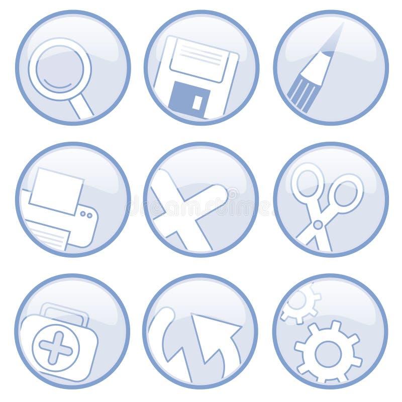 universalsymboler royaltyfri illustrationer