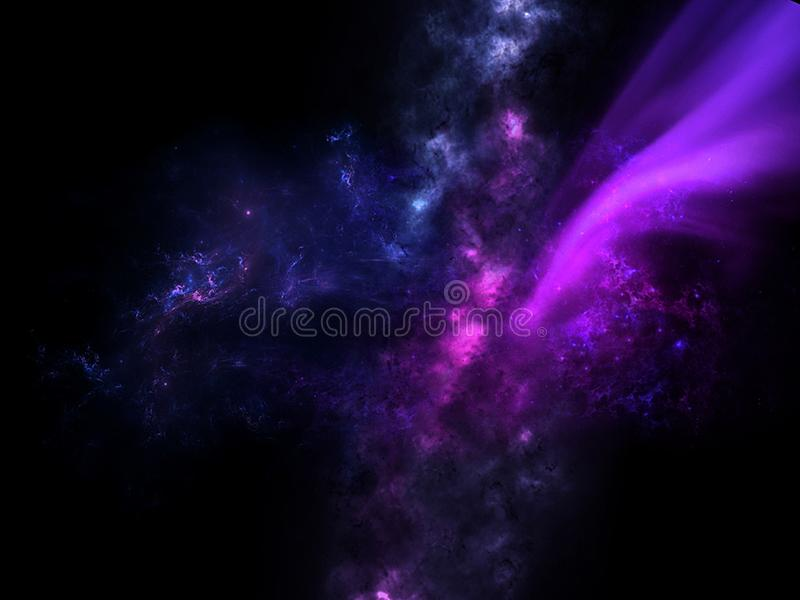 Planets and galaxy, science fiction wallpaper. Beauty of deep space. Billions of galaxy in the universe Cosmic art background, Ver. Universe all existing matter stock illustration