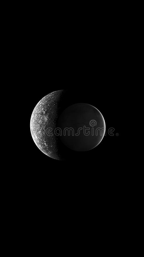 Planets and galaxy, science fiction wallpaper. Beauty of deep space. Universe all existing matter and space considered as a whole the cosmos.  scene with stock image