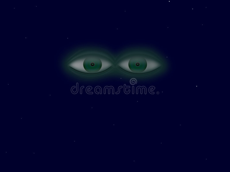 Universe eyes. Reason eyes watching us from depths of the Universe royalty free illustration