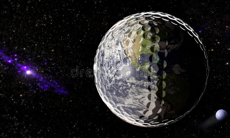 Universe of Golf vector illustration