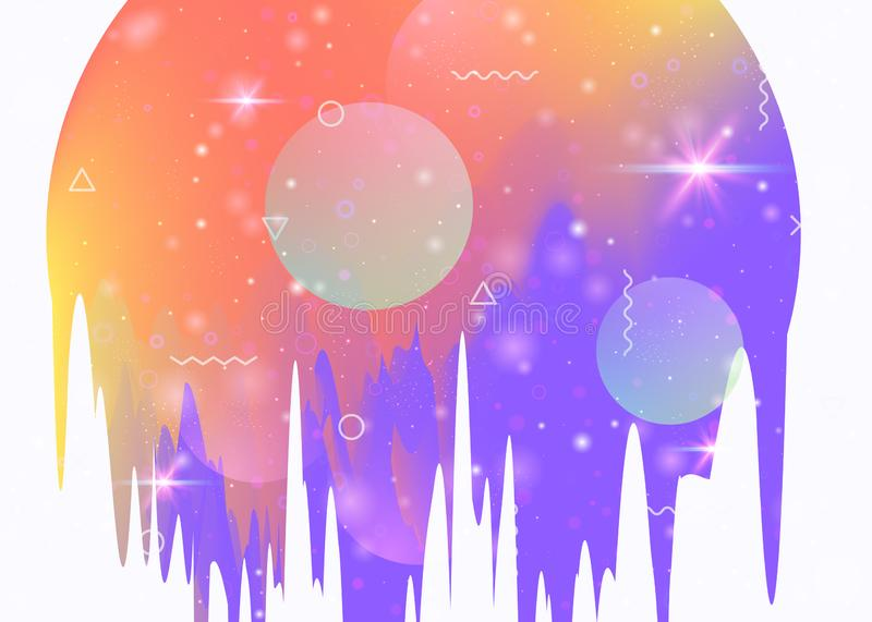 Universe landscape with holographic cosmos and abstract future b royalty free illustration