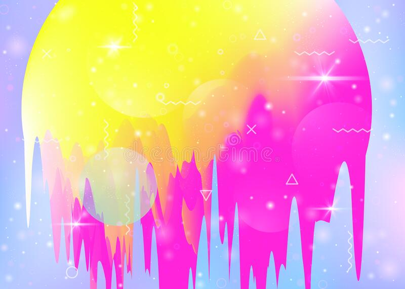Universe landscape with holographic cosmos and abstract future b vector illustration