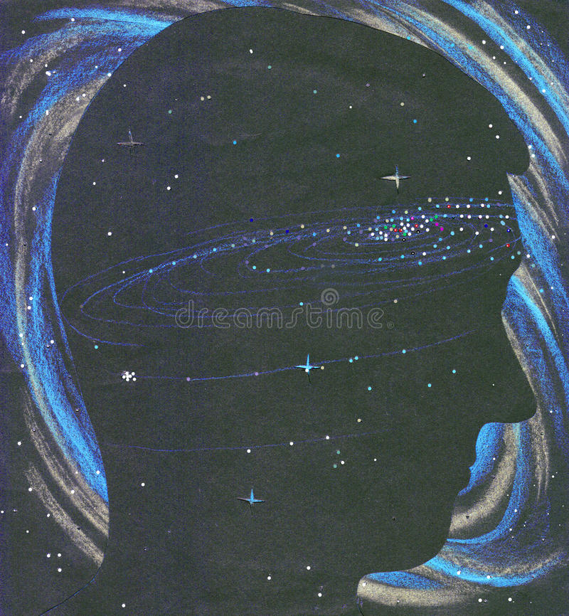 Download Universe Person Silhouette In Space Stock Illustration - Image: 13916619