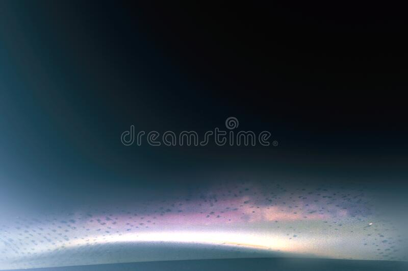 Universe scene with planet, stars and galaxies in outer space showing the beauty of space exploration. Planet and nebula with stars in deep space landscape vector illustration