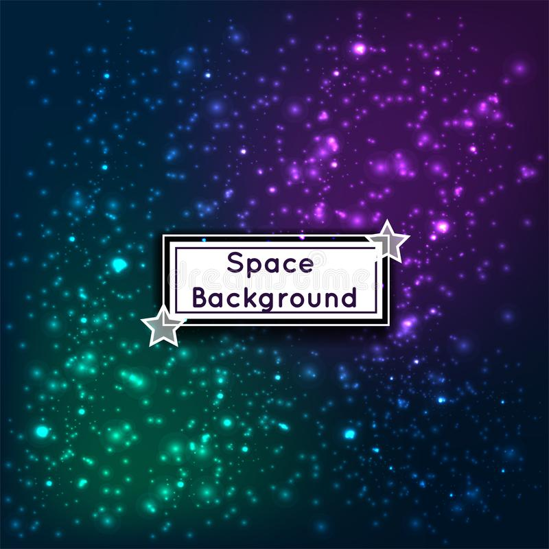 Universe space stars galaxies abstract background vector illustration vector illustration