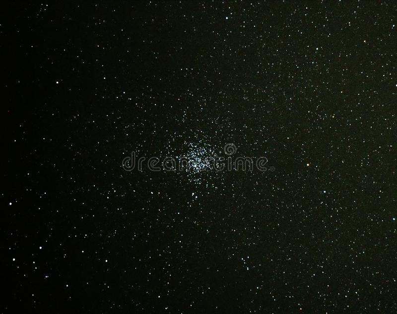 Universe stars and star cluster M11 in night sky. Universe stars star and open cluster M11 stock photography