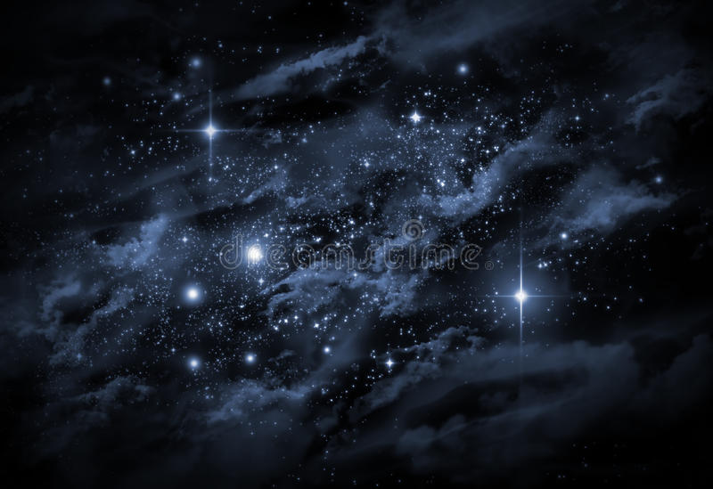 Universe Starscape. Giant universe starscape backdrop with colorful space clouds vector illustration