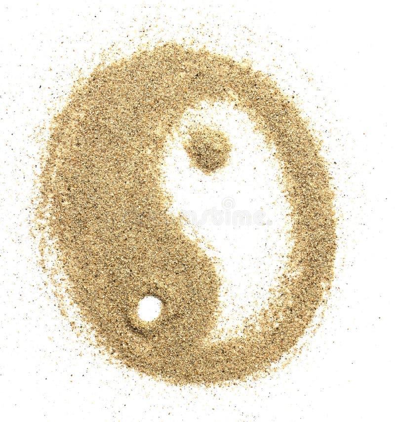 Universeel gebeeldhouwd symbool yin yang stock foto