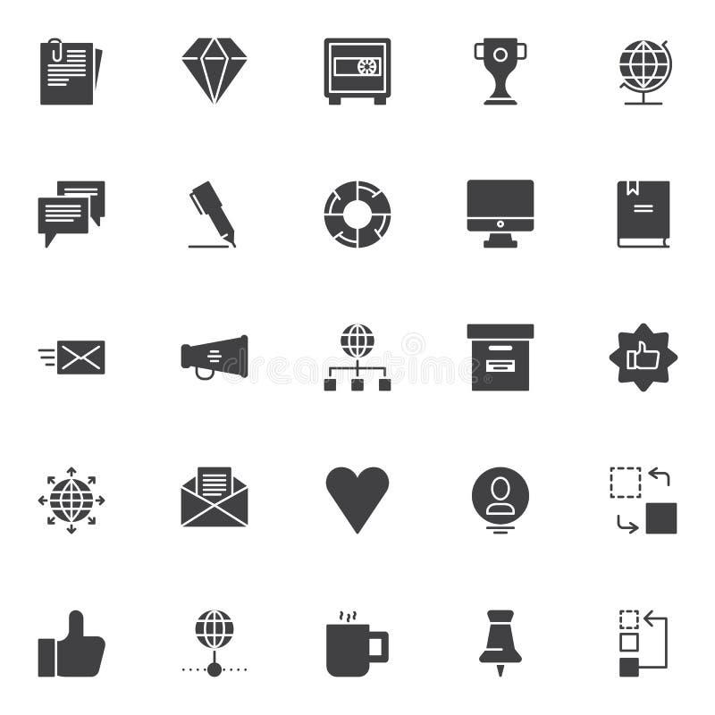 Universele bedrijfs vector geplaatste pictogrammen vector illustratie