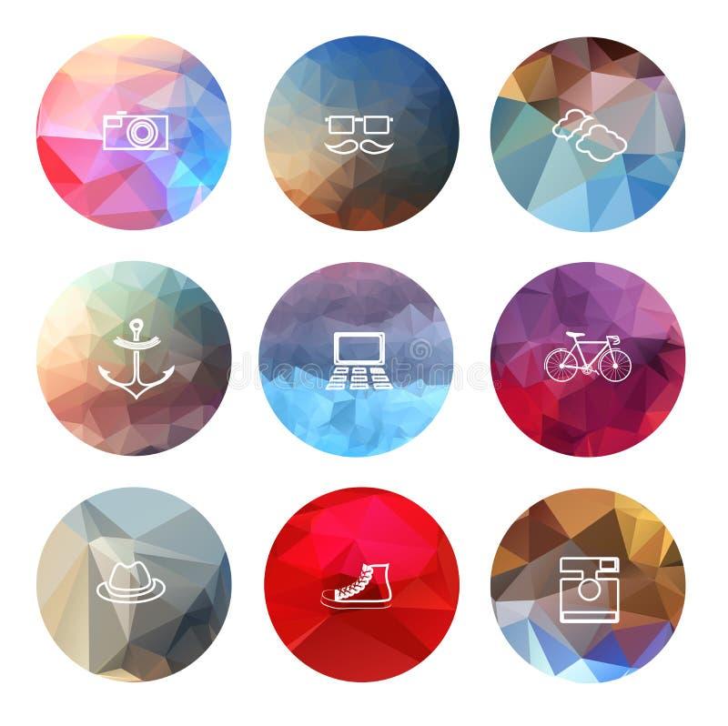 Universele moderne pictogrammen voor Web en mobiele app stock illustratie