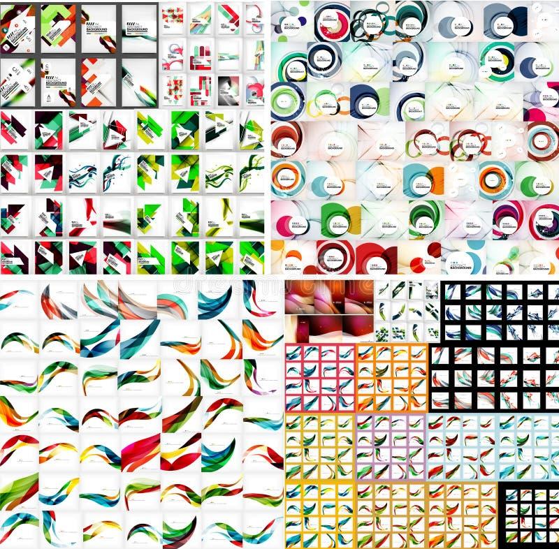 Universele reusachtige megareeks abstracte achtergronden royalty-vrije illustratie