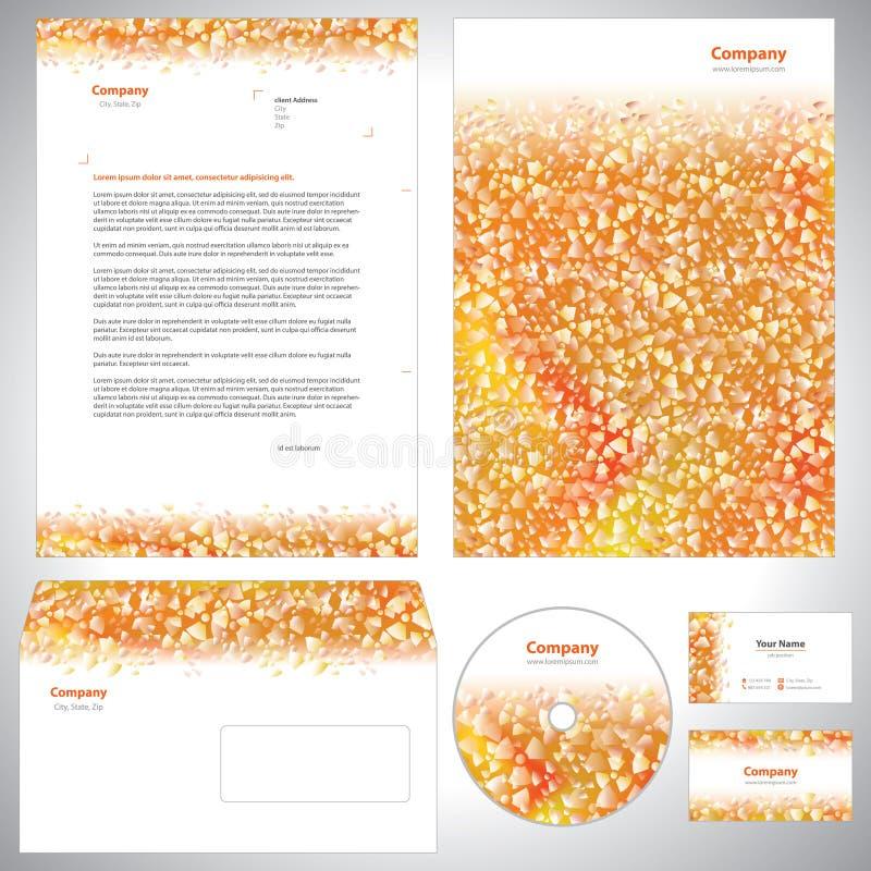 Universell apelsin-vit identitetsmall royaltyfri illustrationer