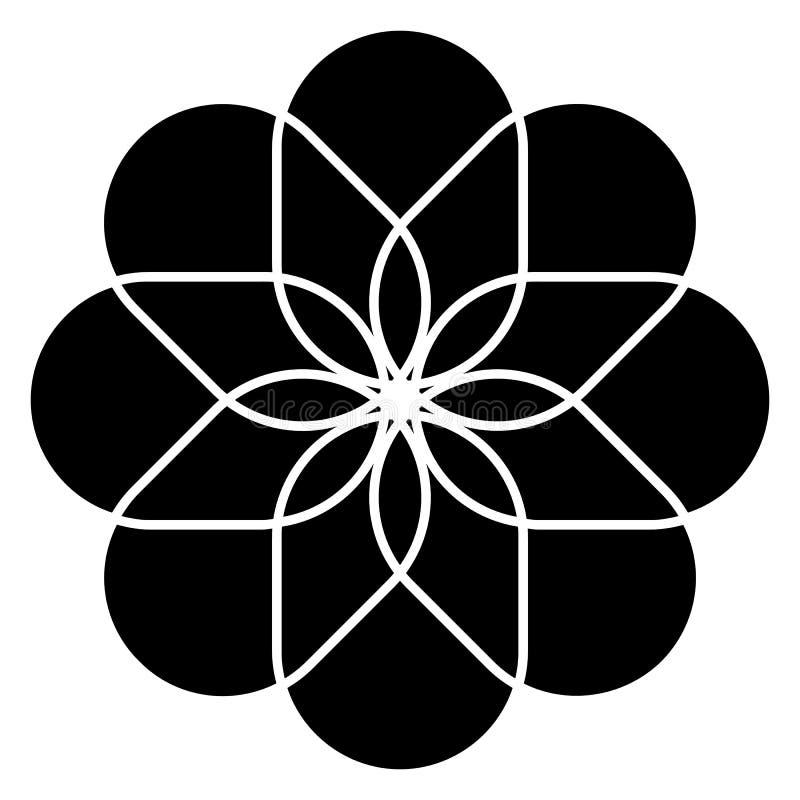 Universell blommasymbol vektor illustrationer