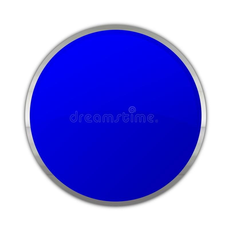 Universell knapp i blått vektor illustrationer