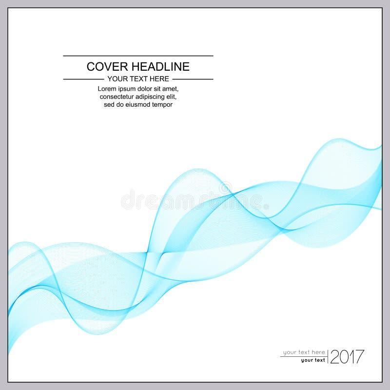Universella räkningar planlägger med ljus - blå våglinje på vita Backg stock illustrationer