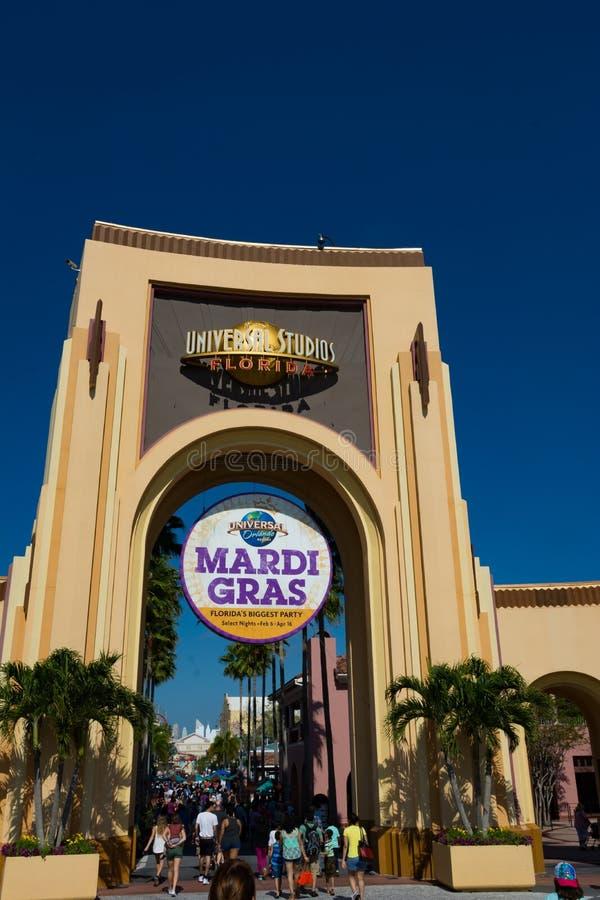Universella studior Orlando Park Entrance royaltyfria bilder