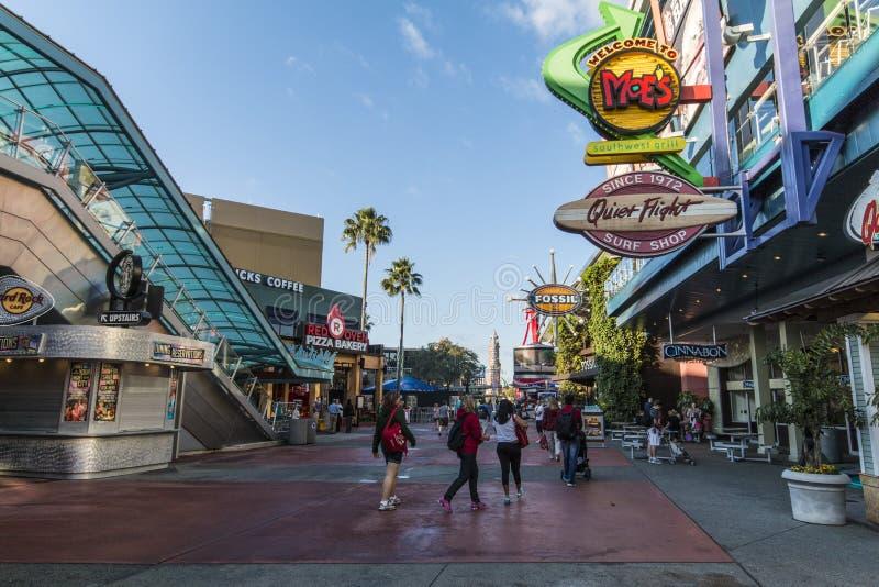 Universella studior Orlando - staden går royaltyfri foto