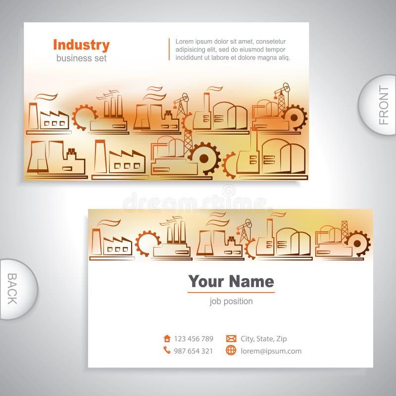 Universellt kort för industriell affär stock illustrationer