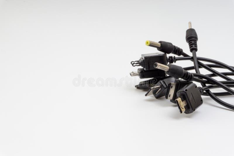 Universellt rechargerhuvud som isoleras på vit bakgrund fotografering för bildbyråer