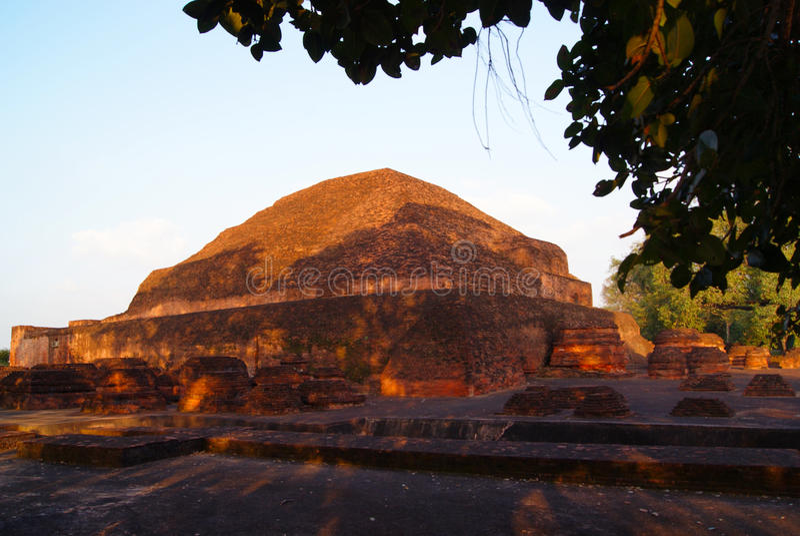 Universidad budista vieja de Nalanda fotografía de archivo