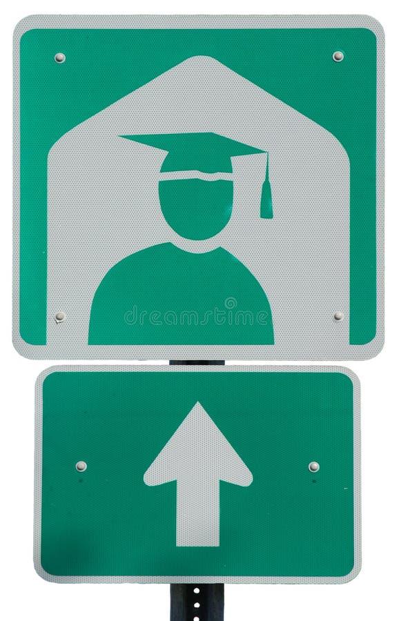 Universidad a continuación imagen de archivo libre de regalías