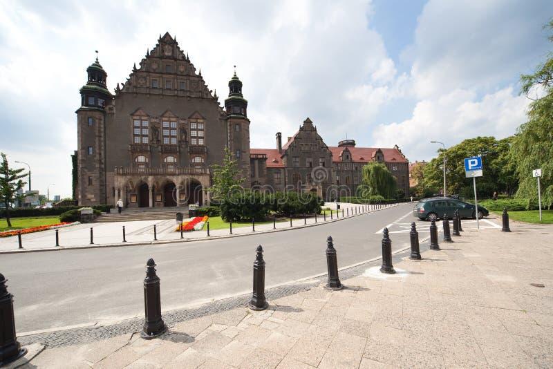 Universidad de Adán Mickiewicz en Poznán fotografía de archivo