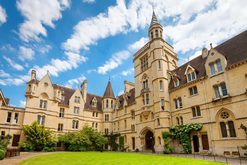Universidad de Balliol Oxford, Inglaterra fotografía de archivo libre de regalías